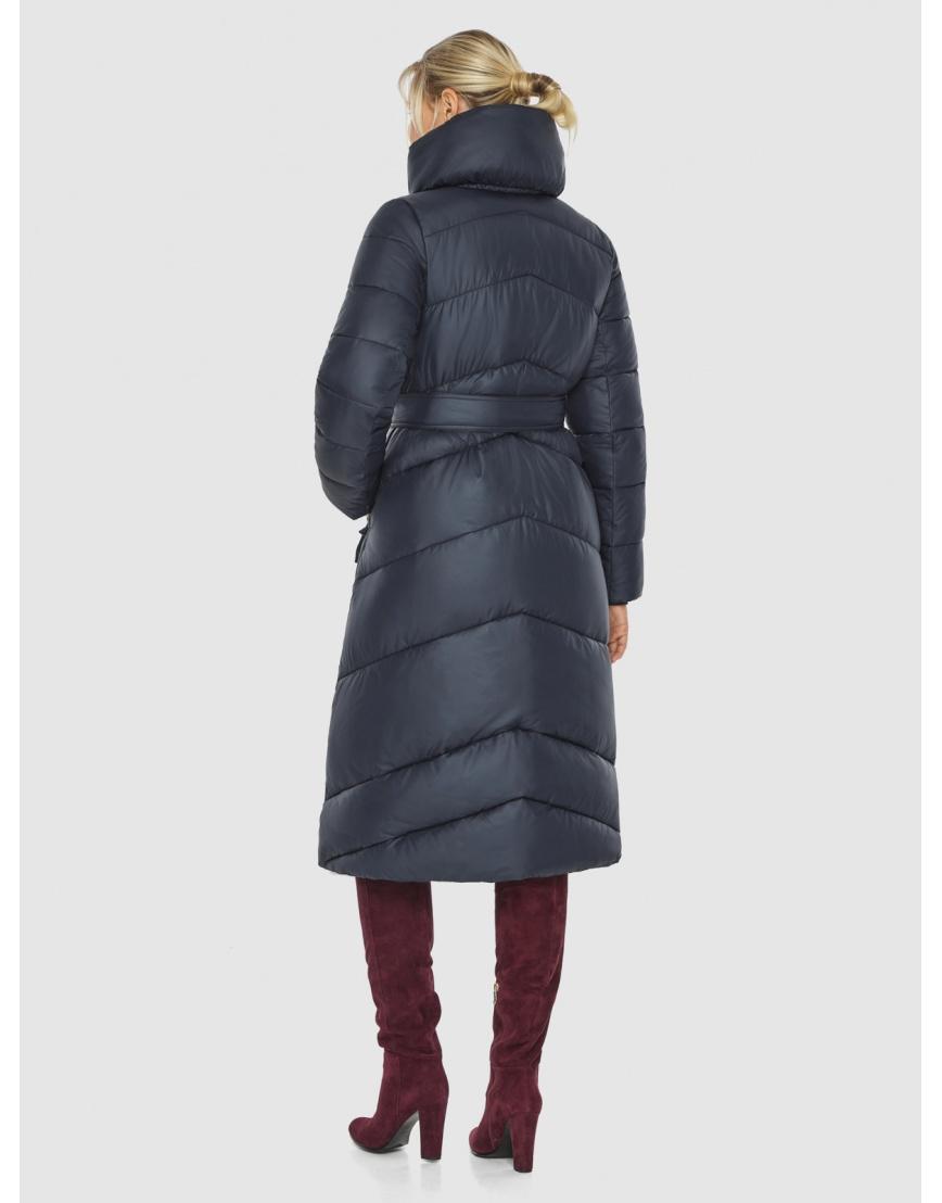 Длинная брендовая куртка женская Kiro Tokao синяя 60035 фото 4
