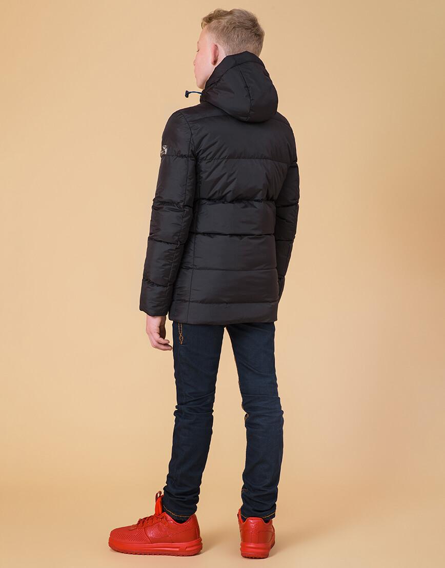 Детская куртка цвет черный-электрик модель 65122 фото 4
