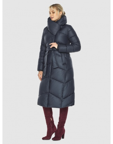 Длинная брендовая куртка женская Kiro Tokao синяя 60035 фото 1