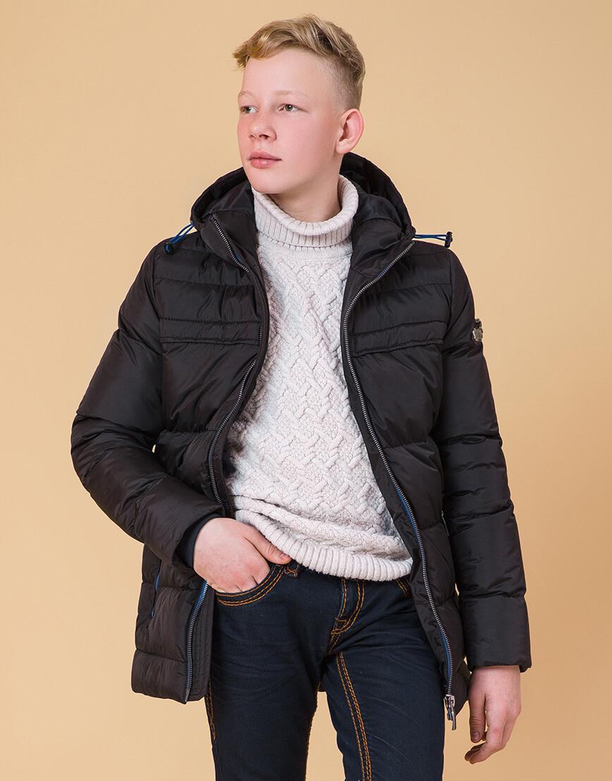 Детская куртка цвет черный-электрик модель 65122 фото 3