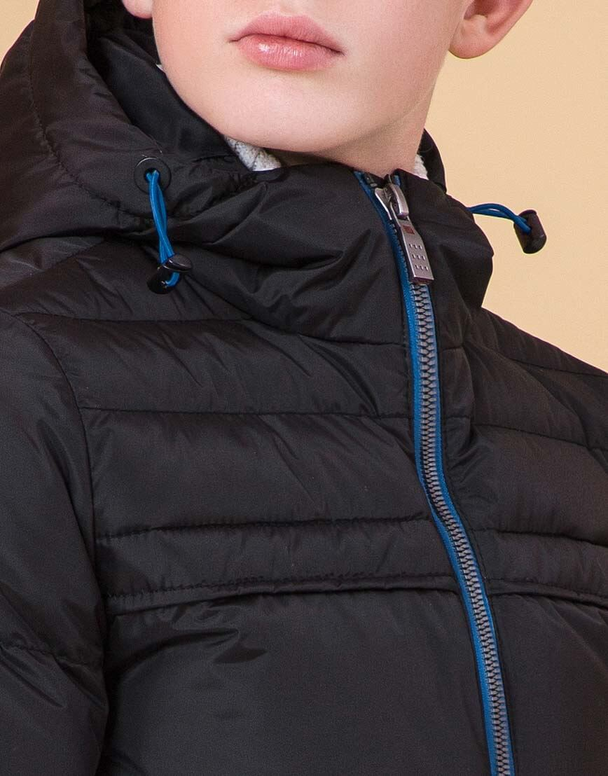 Детская куртка цвет черный-электрик модель 65122 фото 5