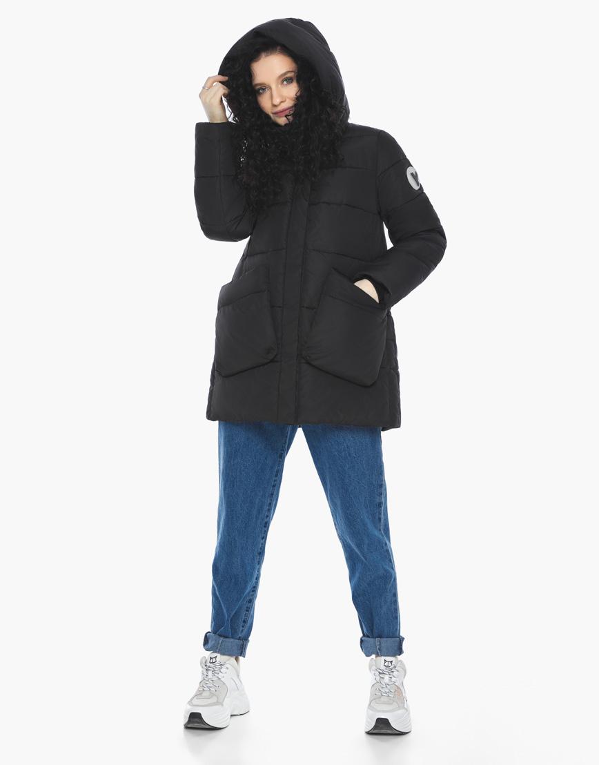 Пуховик куртка Youth молодежная комфортная цвет черный модель 25680 фото 5