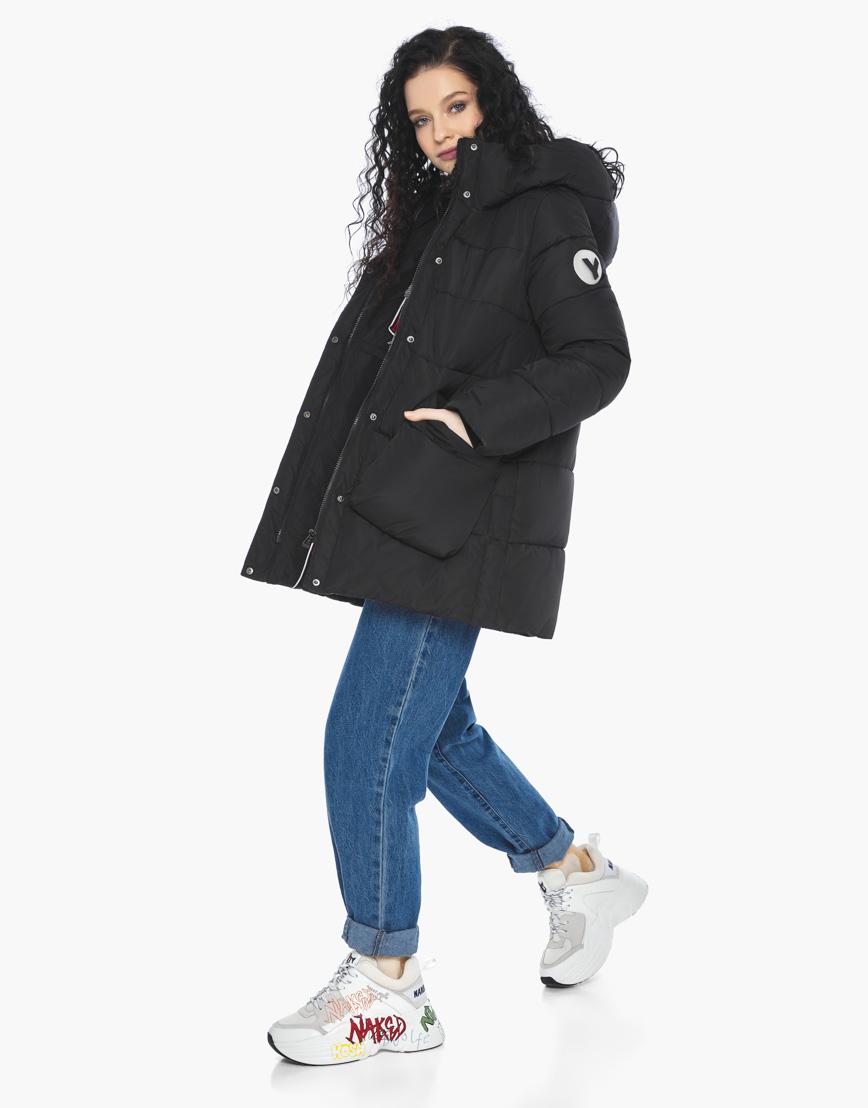 Пуховик куртка Youth молодежная комфортная цвет черный модель 25680 фото 1