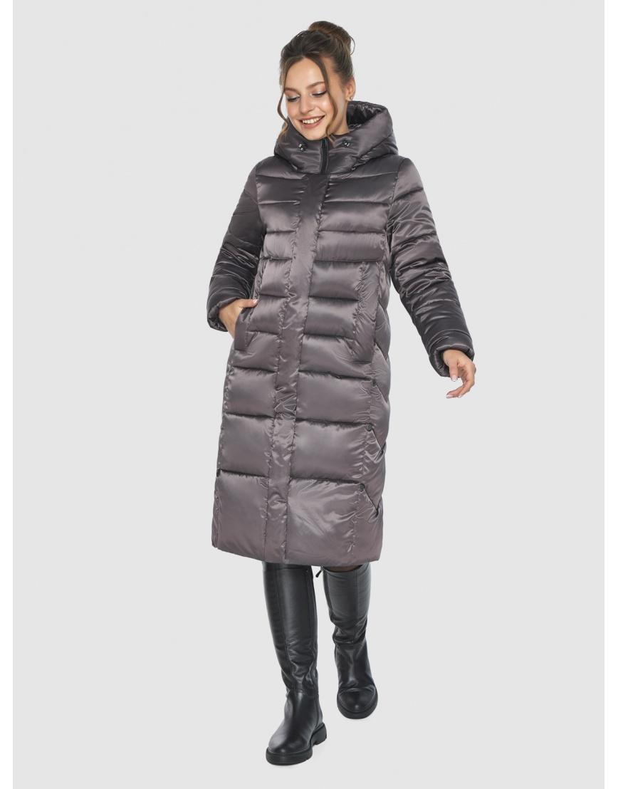 Капучиновая удобная куртка Ajento зимняя для подростков 22975 фото 3