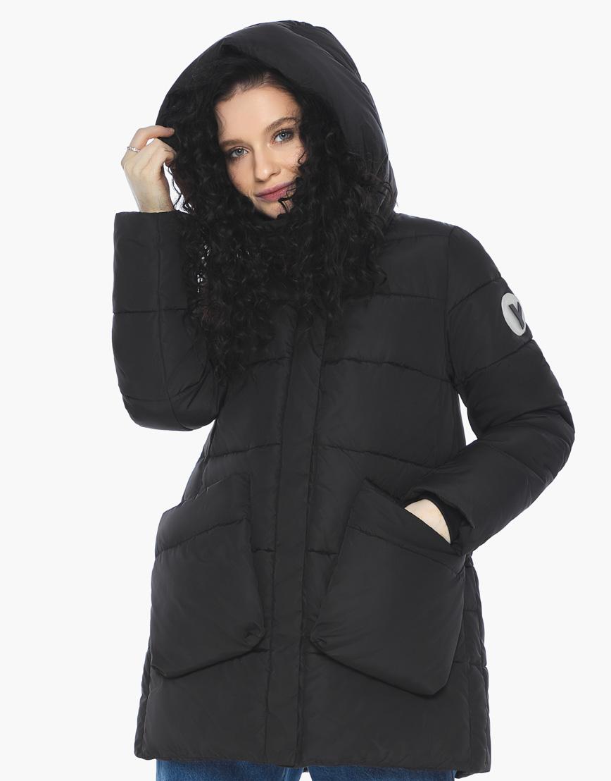 Пуховик куртка Youth молодежная комфортная цвет черный модель 25680 фото 2