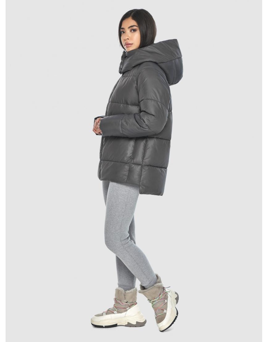 Серая стильная куртка женская Moc M6212 фото 3