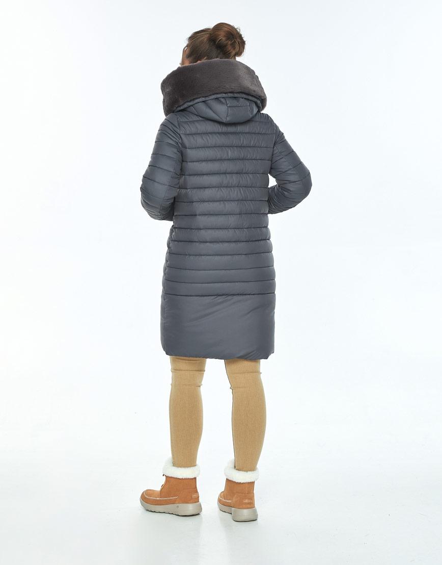 Серая куртка с капюшоном зимняя Ajento женская 24138 фото 3