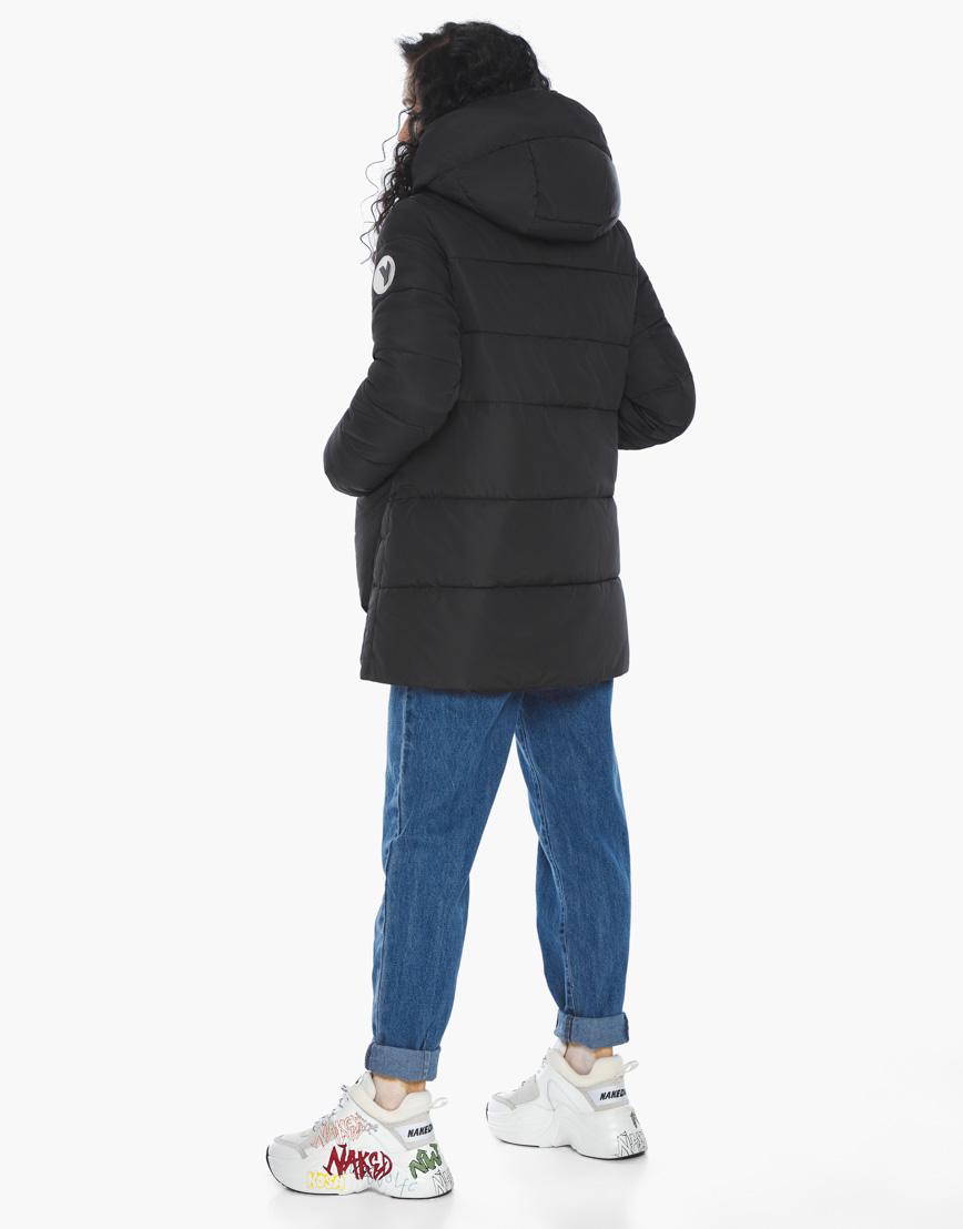 Пуховик куртка Youth молодежная комфортная цвет черный модель 25680 фото 7