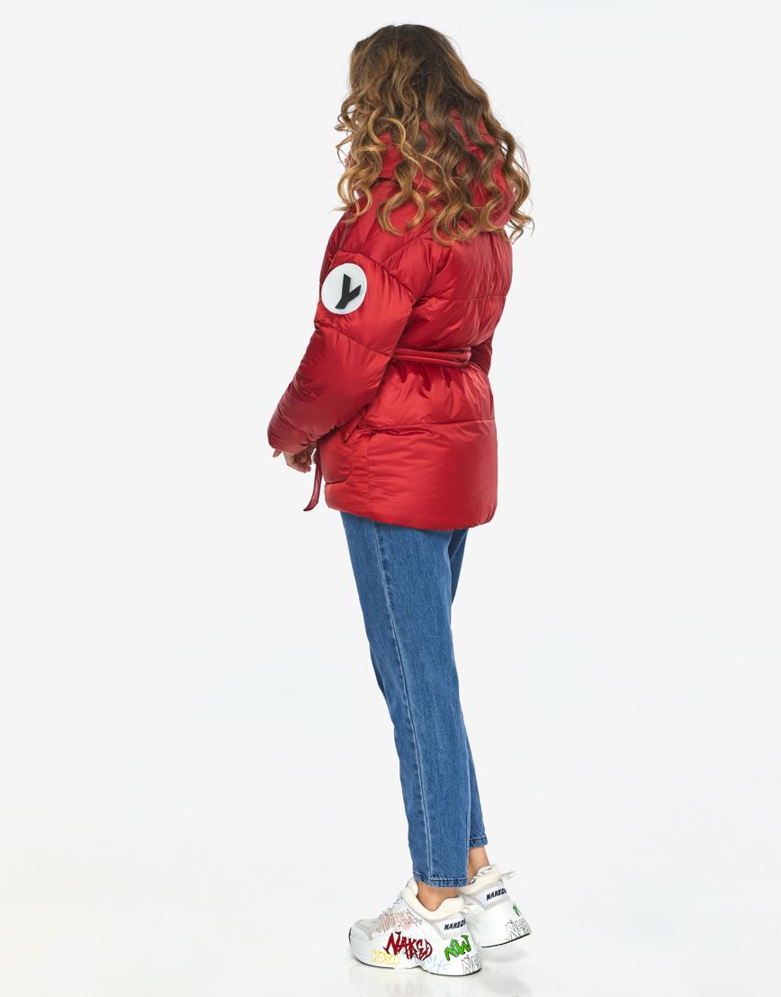 Куртка пуховик Youth рубиновый удобный молодежный модель 24350 фото 7