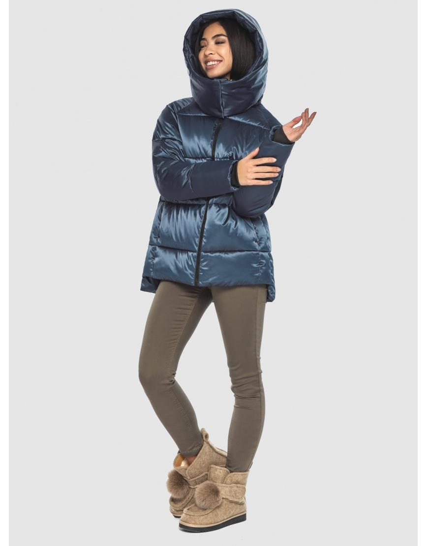 Синяя комфортная куртка женская Moc M6212 фото 3