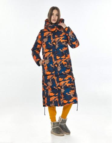 Зимняя куртка с рисунком женская Vivacana модная 7654/21 фото 1