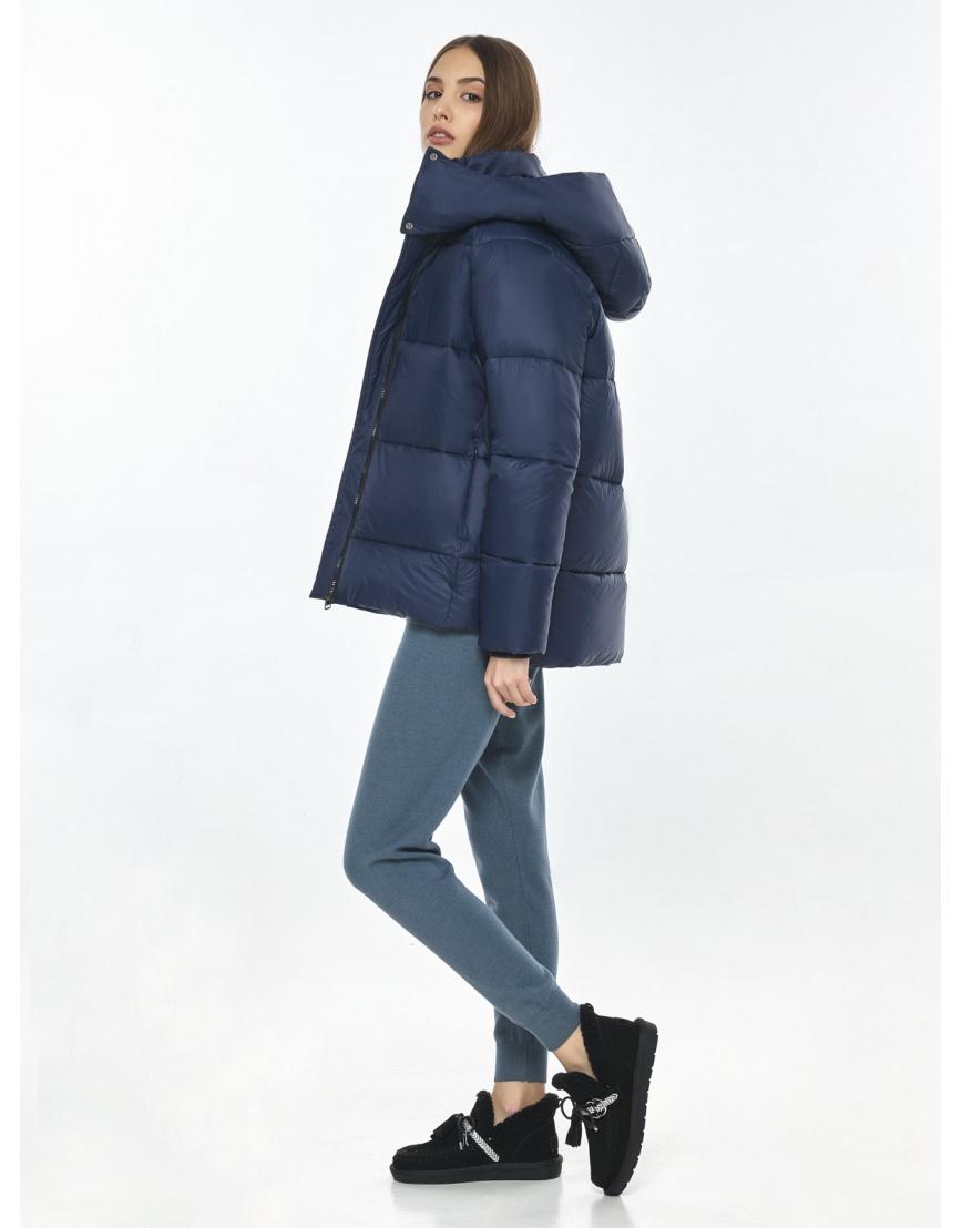 Куртка синяя комфортная женская Vivacana 7354/21 фото 6