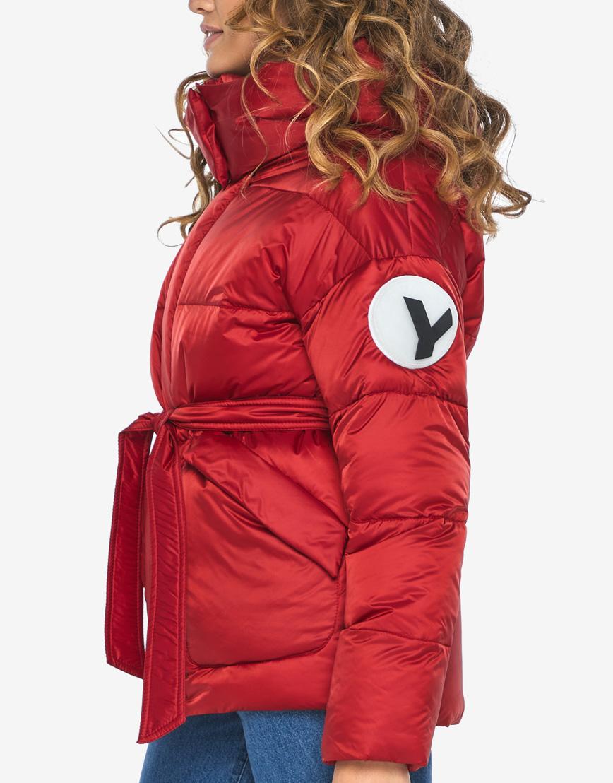 Куртка пуховик Youth рубиновый удобный молодежный модель 24350 фото 8