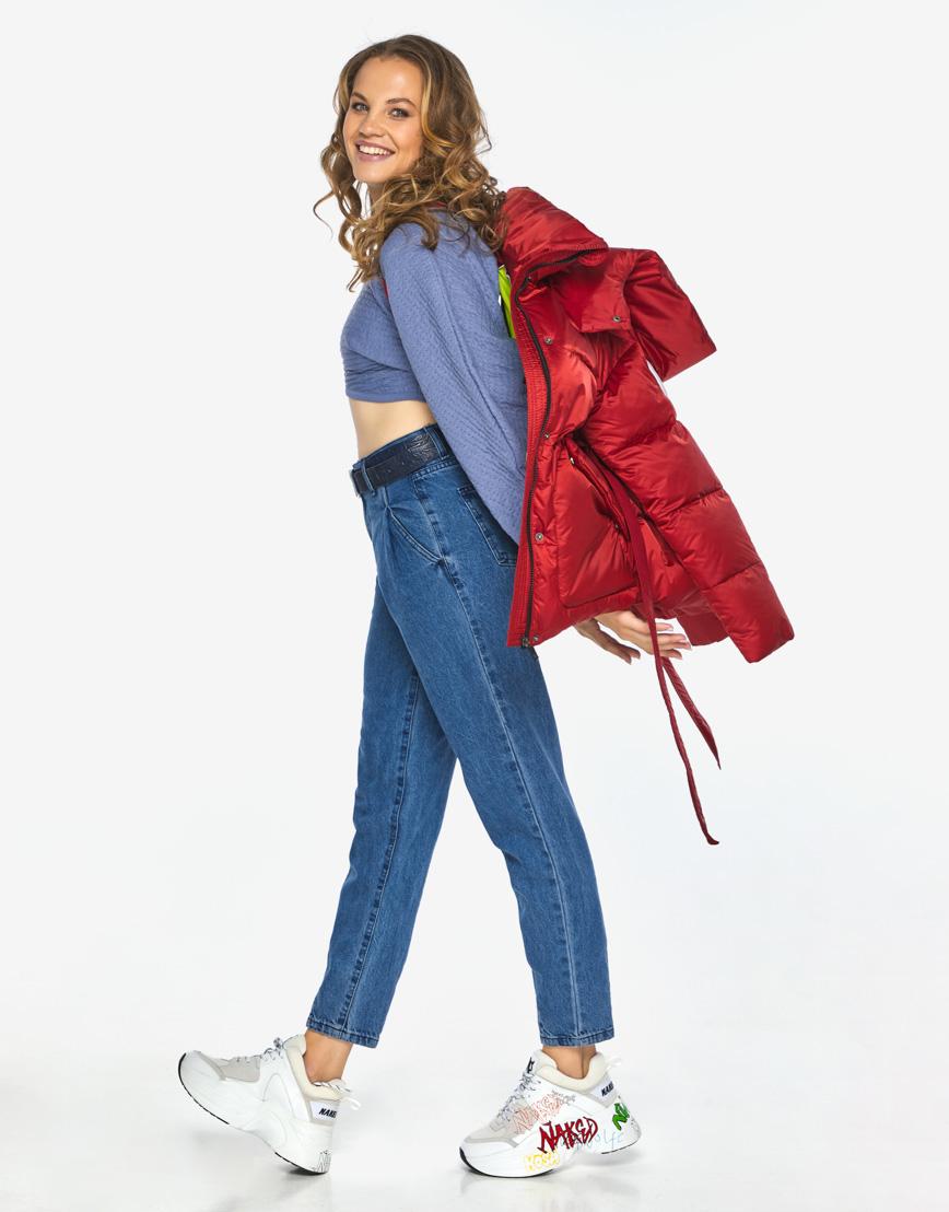 Куртка пуховик Youth рубиновый удобный молодежный модель 24350 фото 2