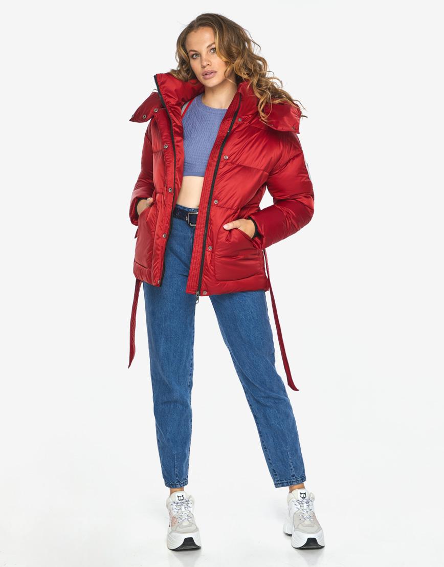 Куртка пуховик Youth рубиновый удобный молодежный модель 24350 фото 1