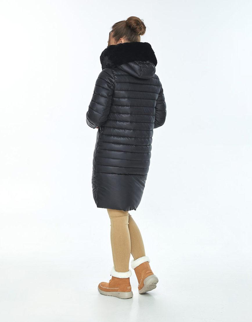 Стильная куртка чёрная женская Ajento на зиму 24138 фото 3