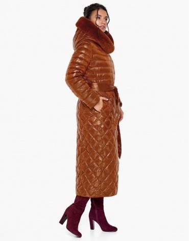 Зимний воздуховик Braggart теплый женский цвет сиена модель 31012