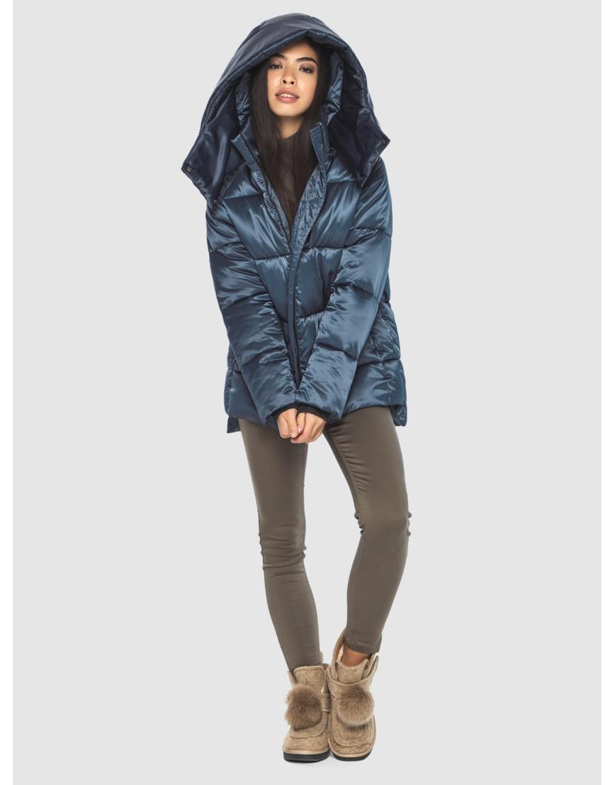 Синяя комфортная куртка женская Moc M6212 фото 6