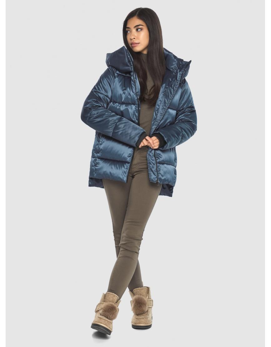 Синяя комфортная куртка женская Moc M6212 фото 2