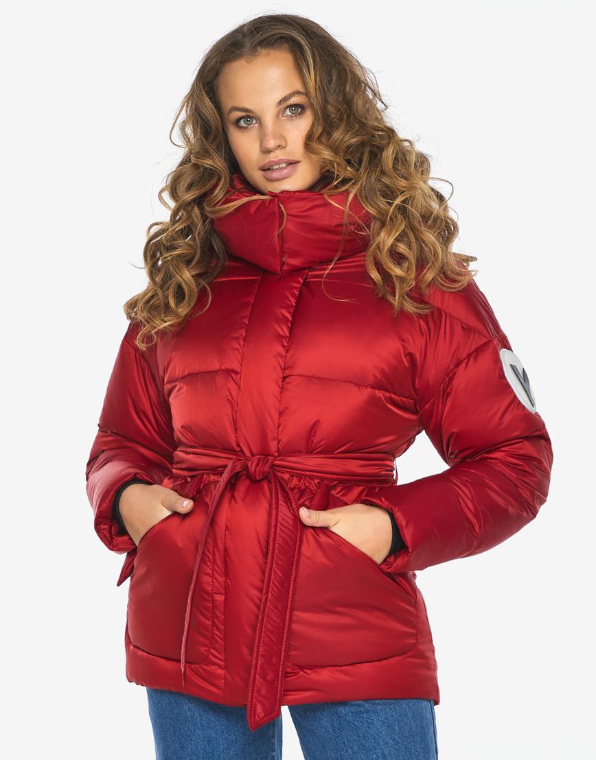Куртка пуховик Youth рубиновый удобный молодежный модель 24350 фото 3
