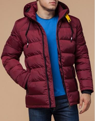 Бордово-черная куртка высококачественного пошива модель 10168
