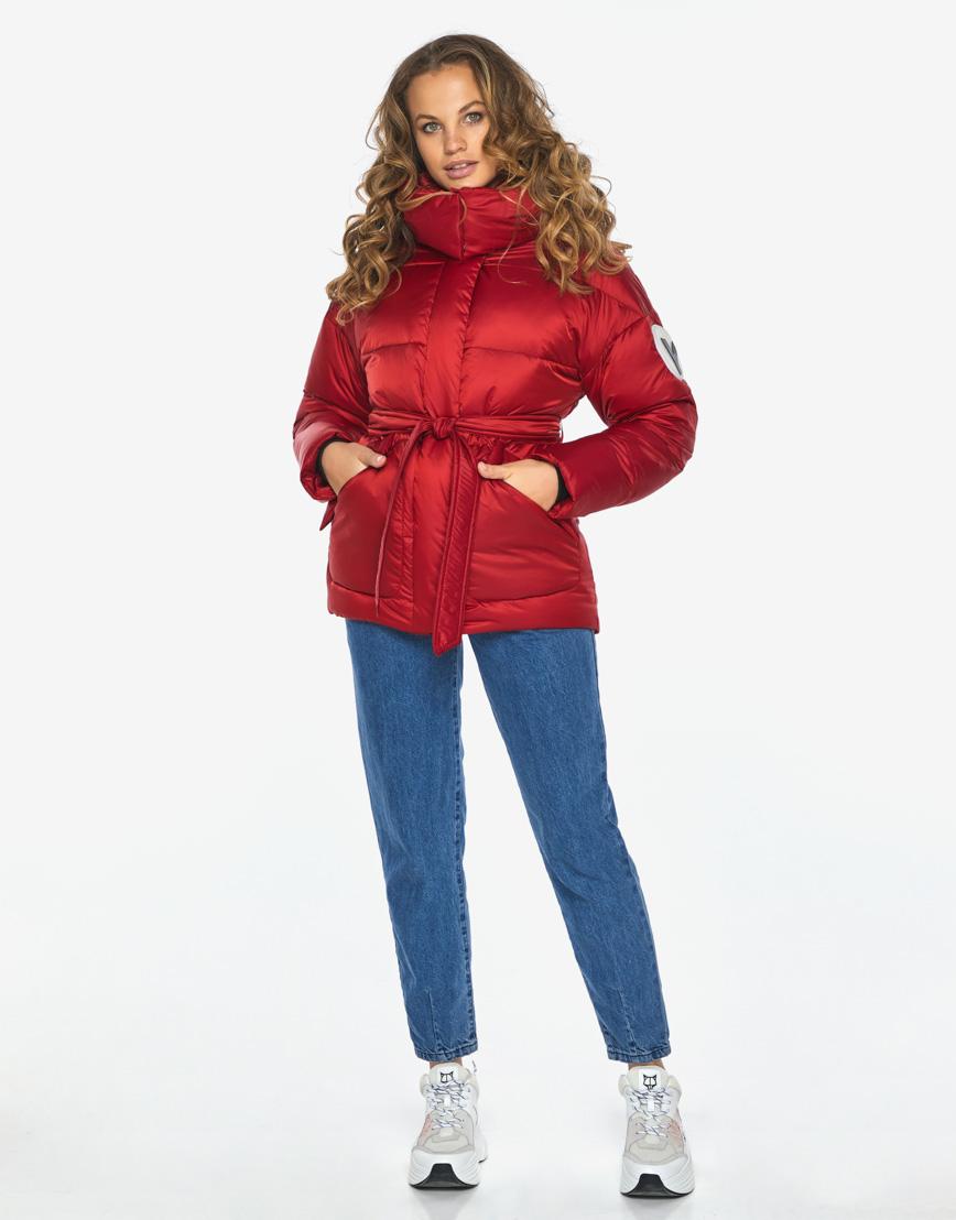 Куртка пуховик Youth рубиновый удобный молодежный модель 24350 фото 5