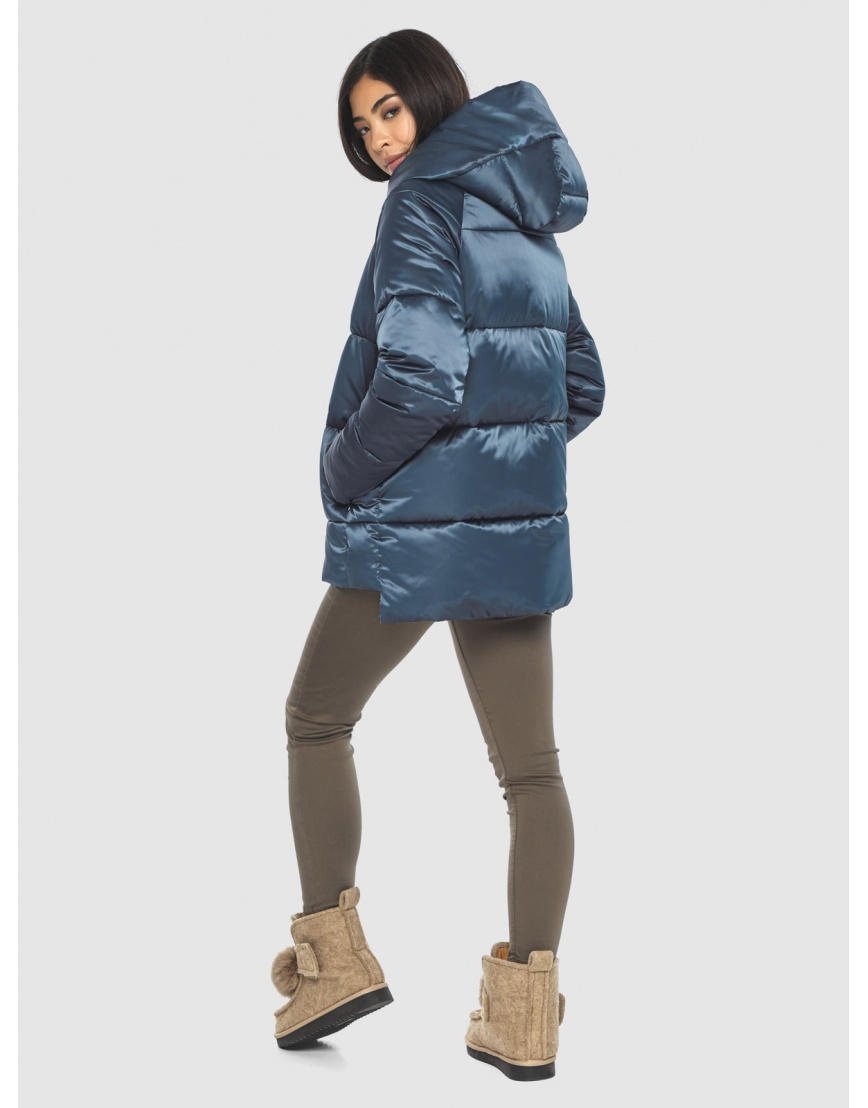 Синяя комфортная куртка женская Moc M6212 фото 4