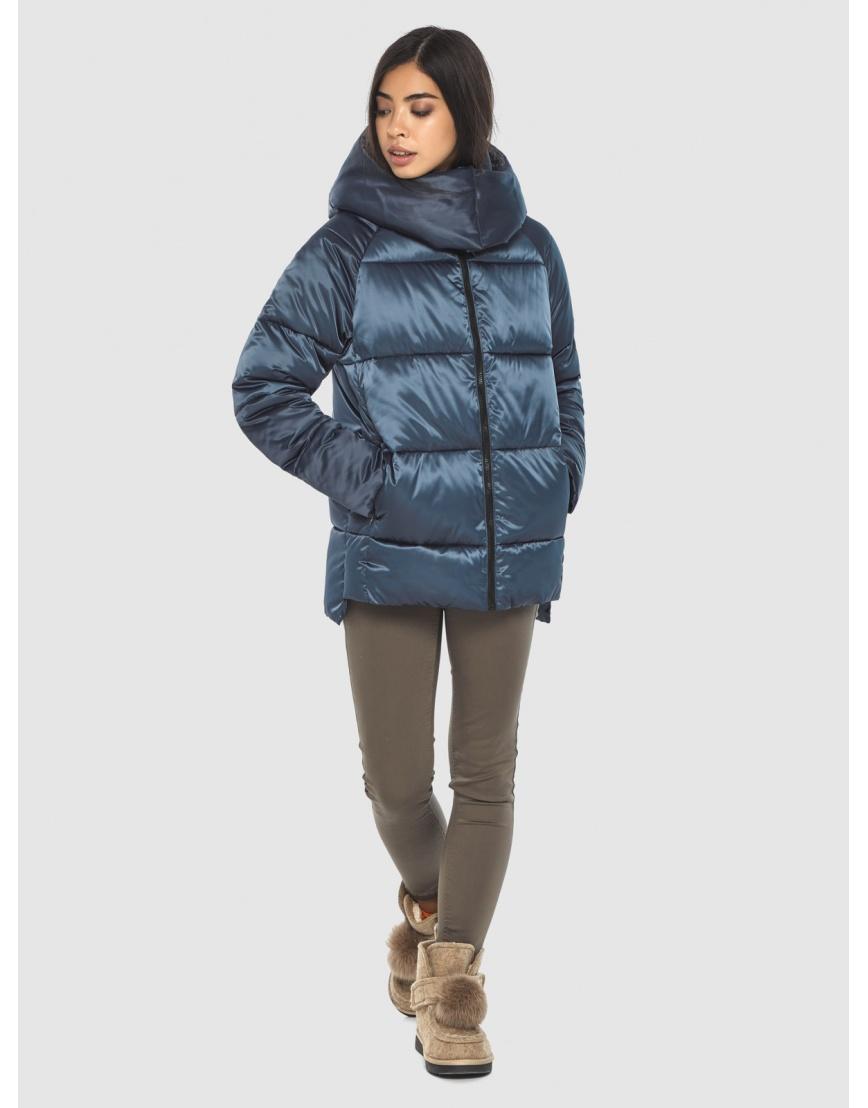 Синяя комфортная куртка женская Moc M6212 фото 5