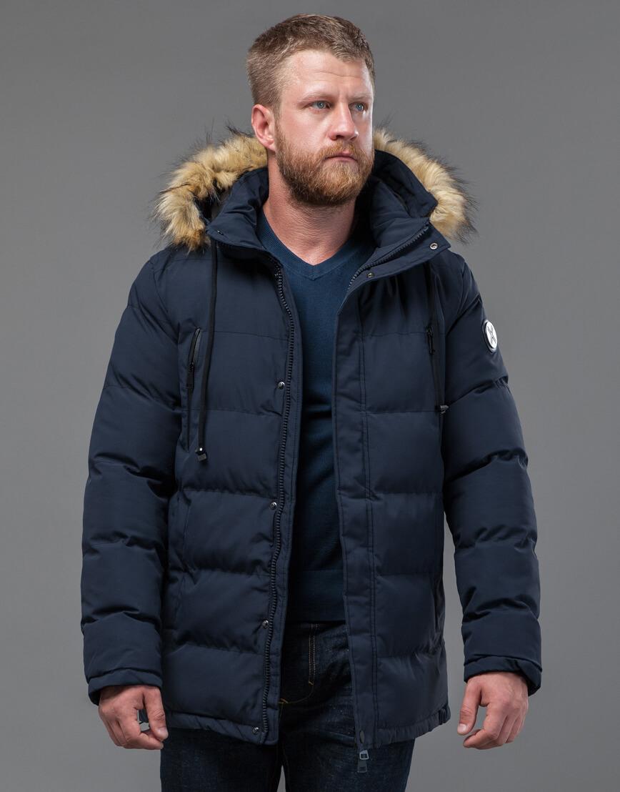Куртка темно-синяя оригинального пошива модель 70450 фото 2