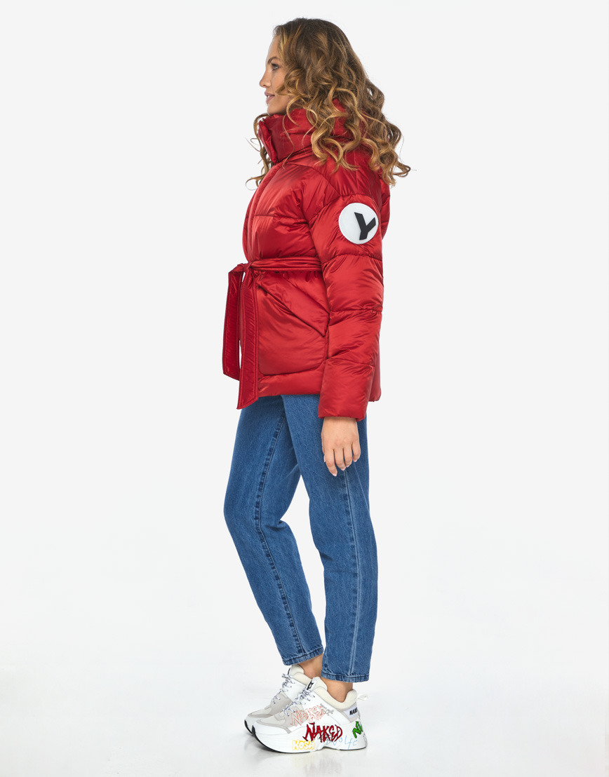 Куртка пуховик Youth рубиновый удобный молодежный модель 24350 фото 6
