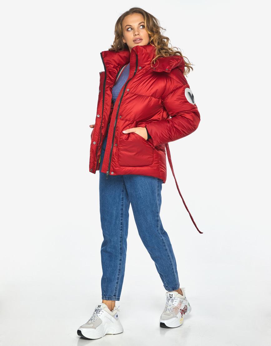 Куртка пуховик Youth рубиновый удобный молодежный модель 24350 фото 4