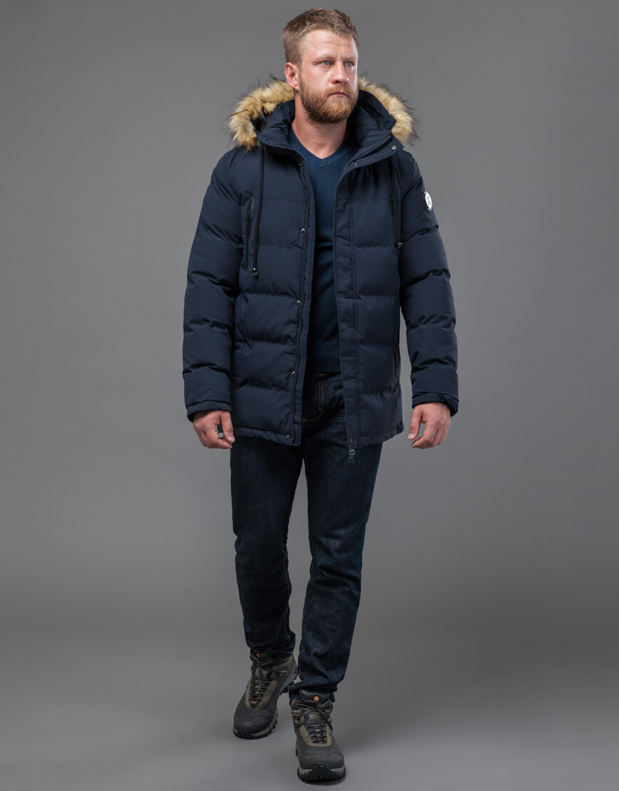 Куртка темно-синяя оригинального пошива модель 70450 фото 3