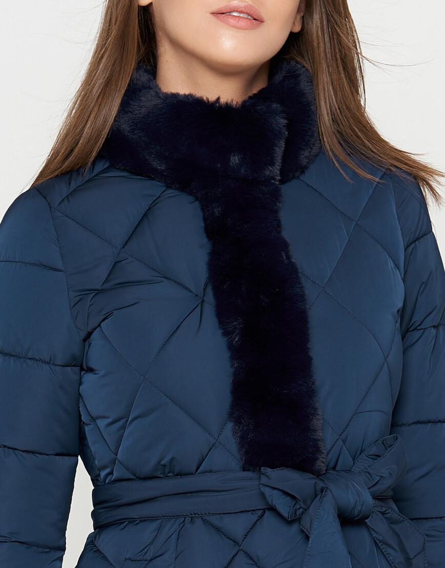 Куртка оригинальная синяя женская модель 5231 фото 4