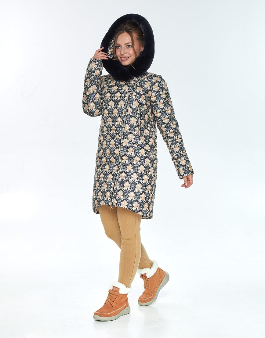 Модная куртка с рисунком женская Ajento зимняя 24138 фото 1