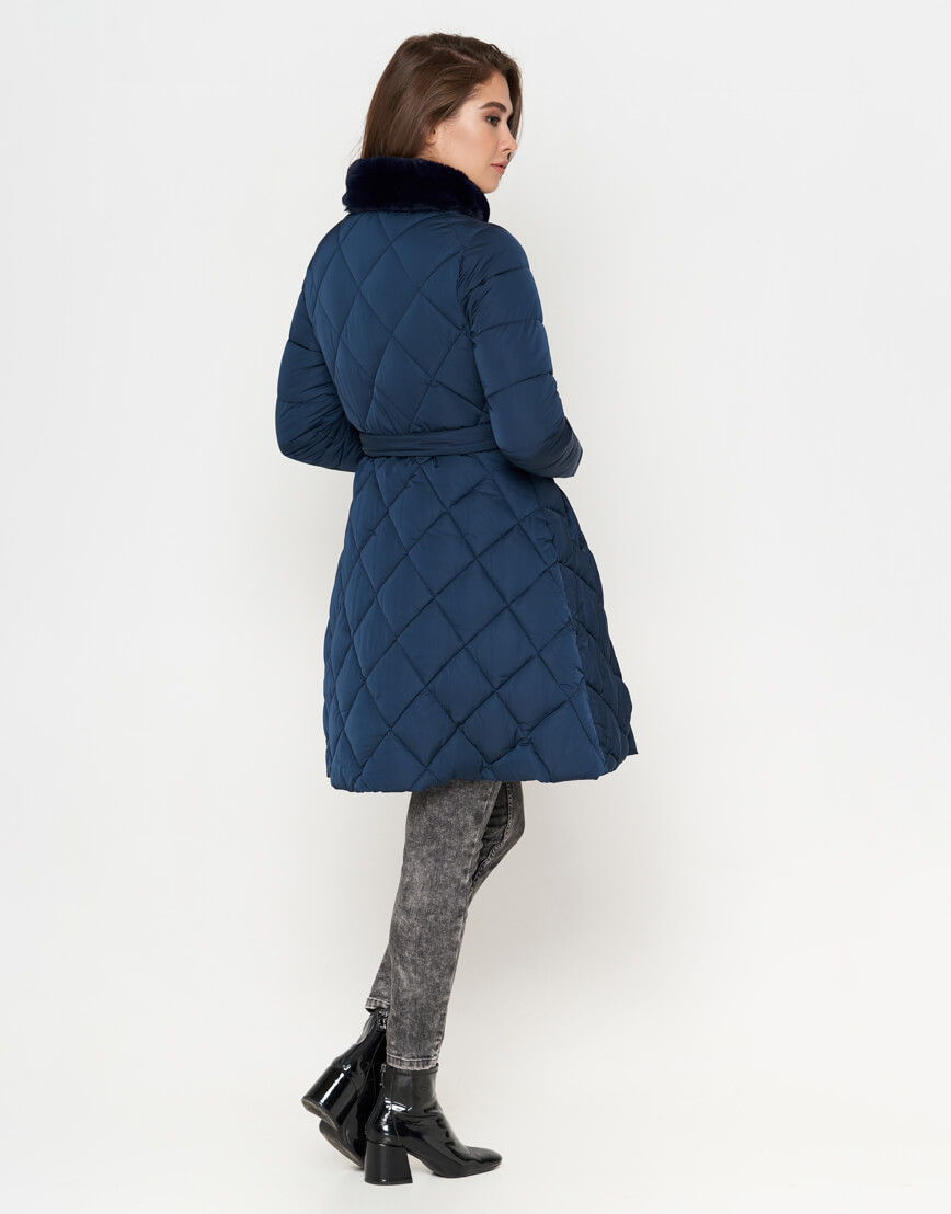 Куртка оригинальная синяя женская модель 5231 фото 3