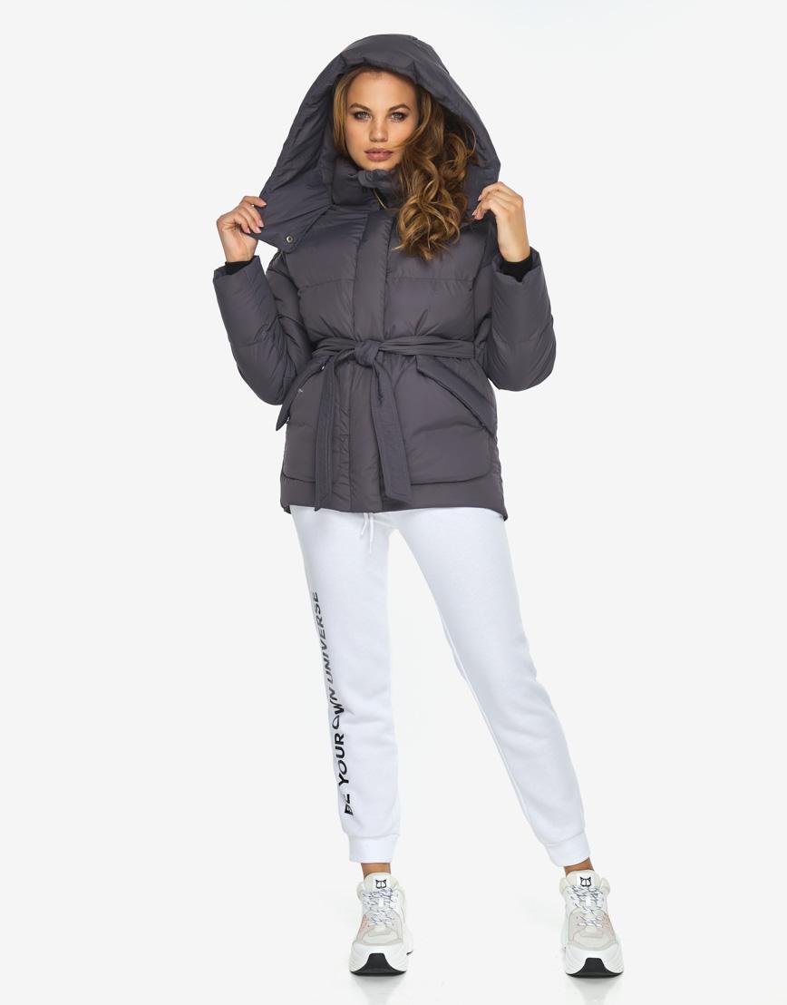Пуховик куртка Youth молодежная модная графитовая модель 24350 фото 1