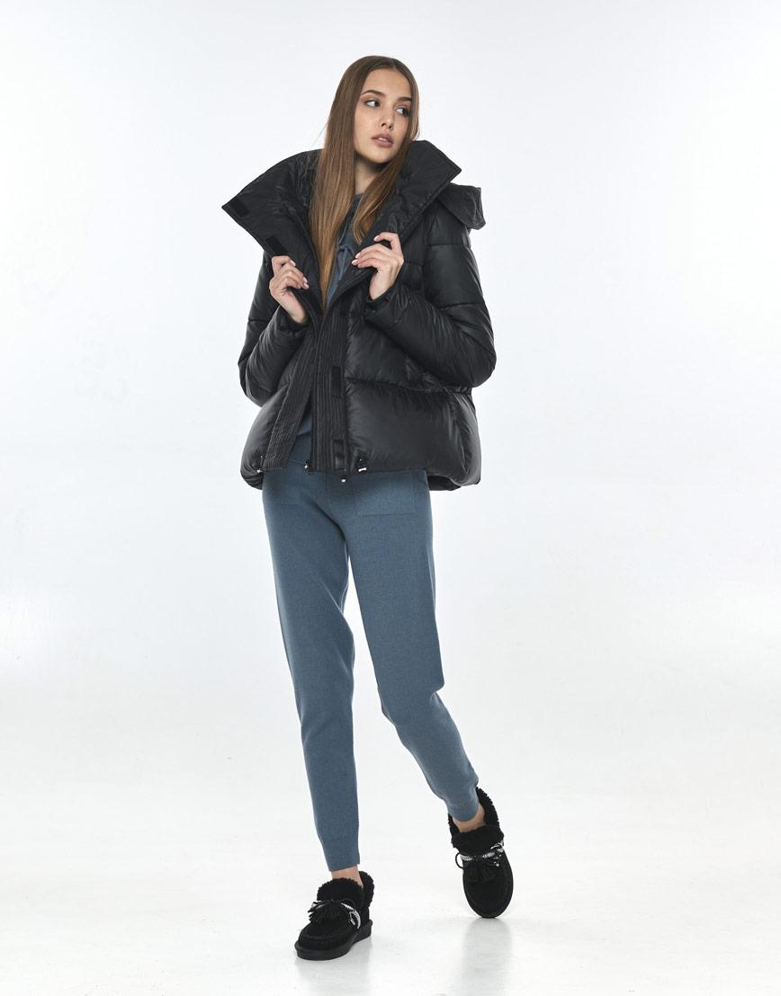 Куртка на осень женская Vivacana практичная чёрная 9742/21 фото 1