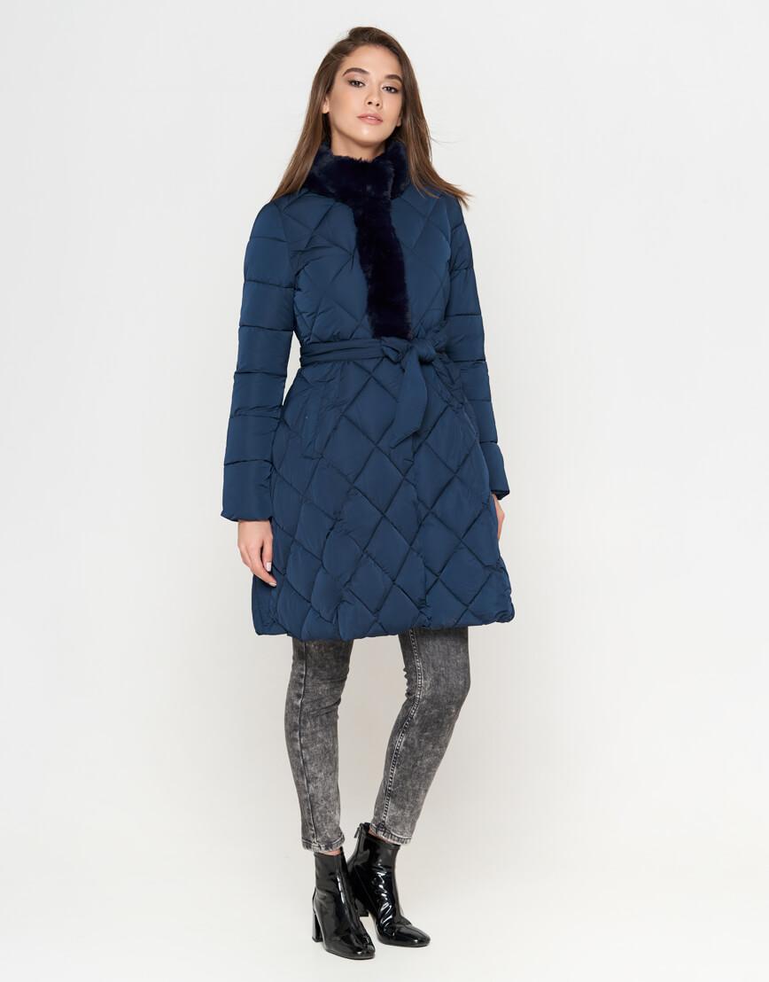Куртка оригинальная синяя женская модель 5231 фото 2