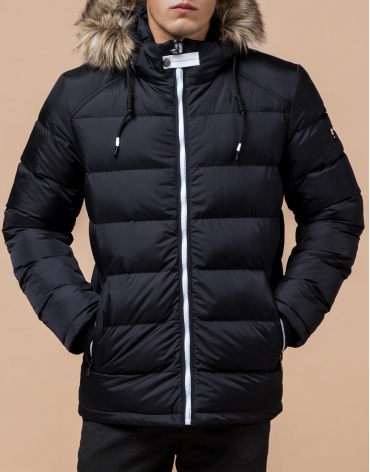 Брендовая куртка темно-сине-белая модель 38268