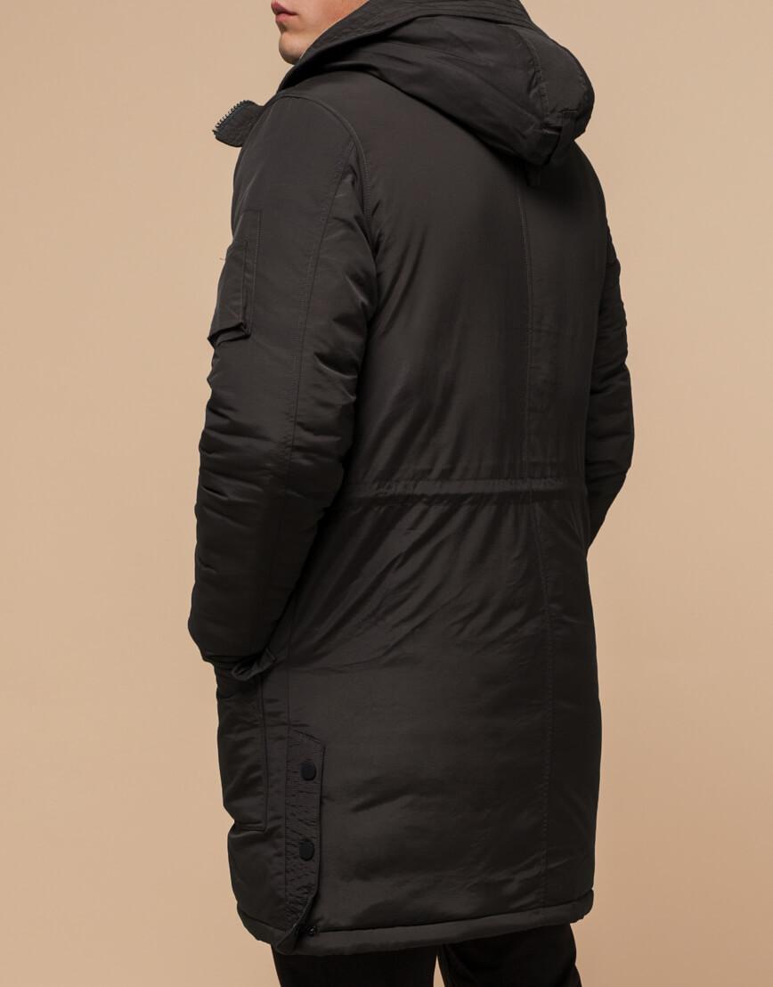 Коричневая мужская зимняя парка модель 90520 оптом