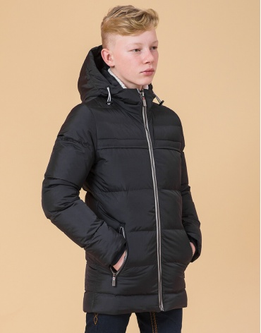 Детская оригинальная куртка цвет графит-серый модель 65122
