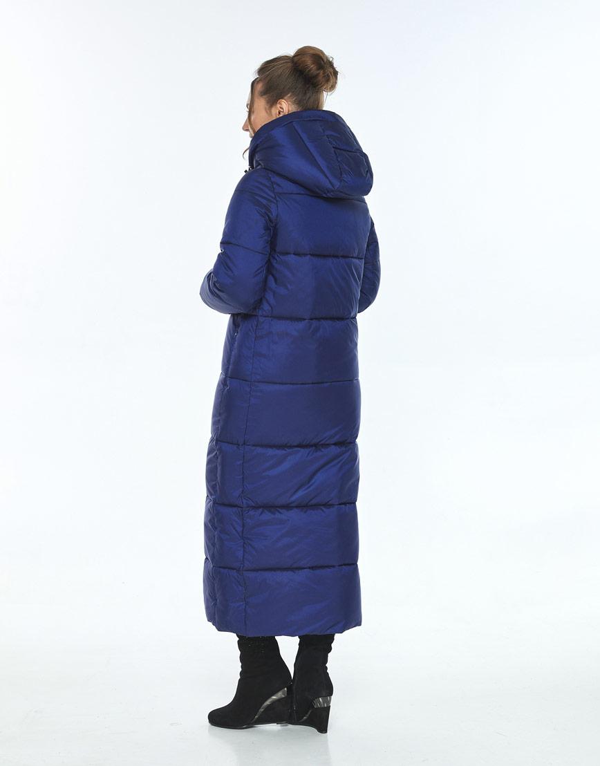 Длинная синяя куртка с карманами женская Ajento 21972 фото 3