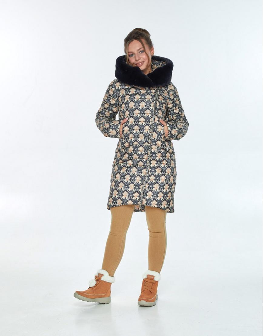 Модная куртка с рисунком женская Ajento зимняя 24138 фото 2
