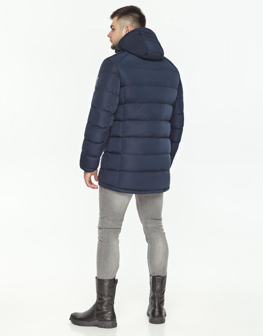 Трендовая куртка мужская синего цвета модель 36470 фото 4