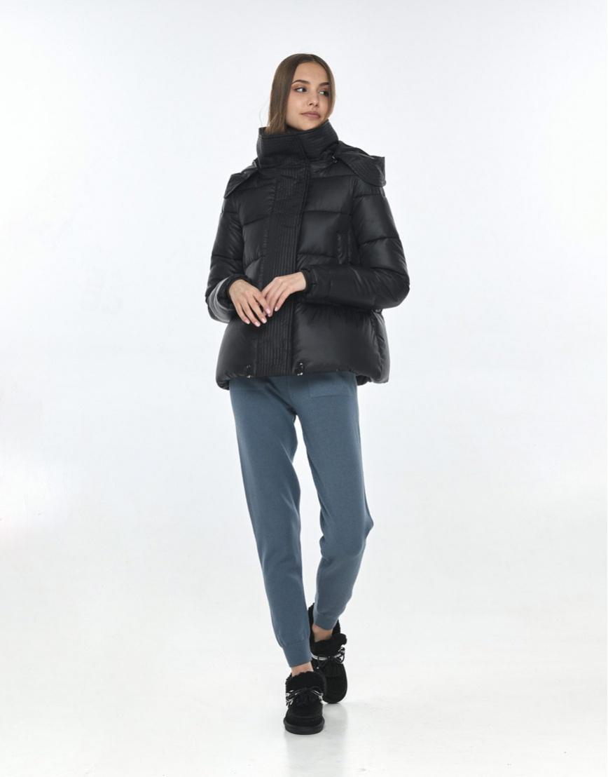 Куртка на осень женская Vivacana практичная чёрная 9742/21 фото 2