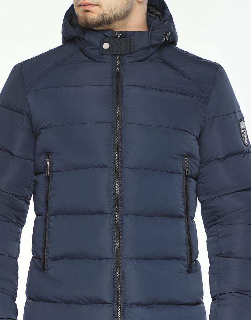 Трендовая куртка мужская синего цвета модель 36470 фото 5
