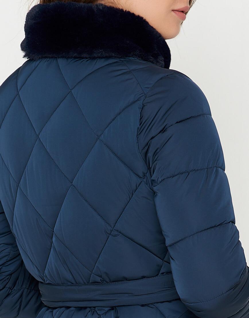 Куртка оригинальная синяя женская модель 5231 фото 5