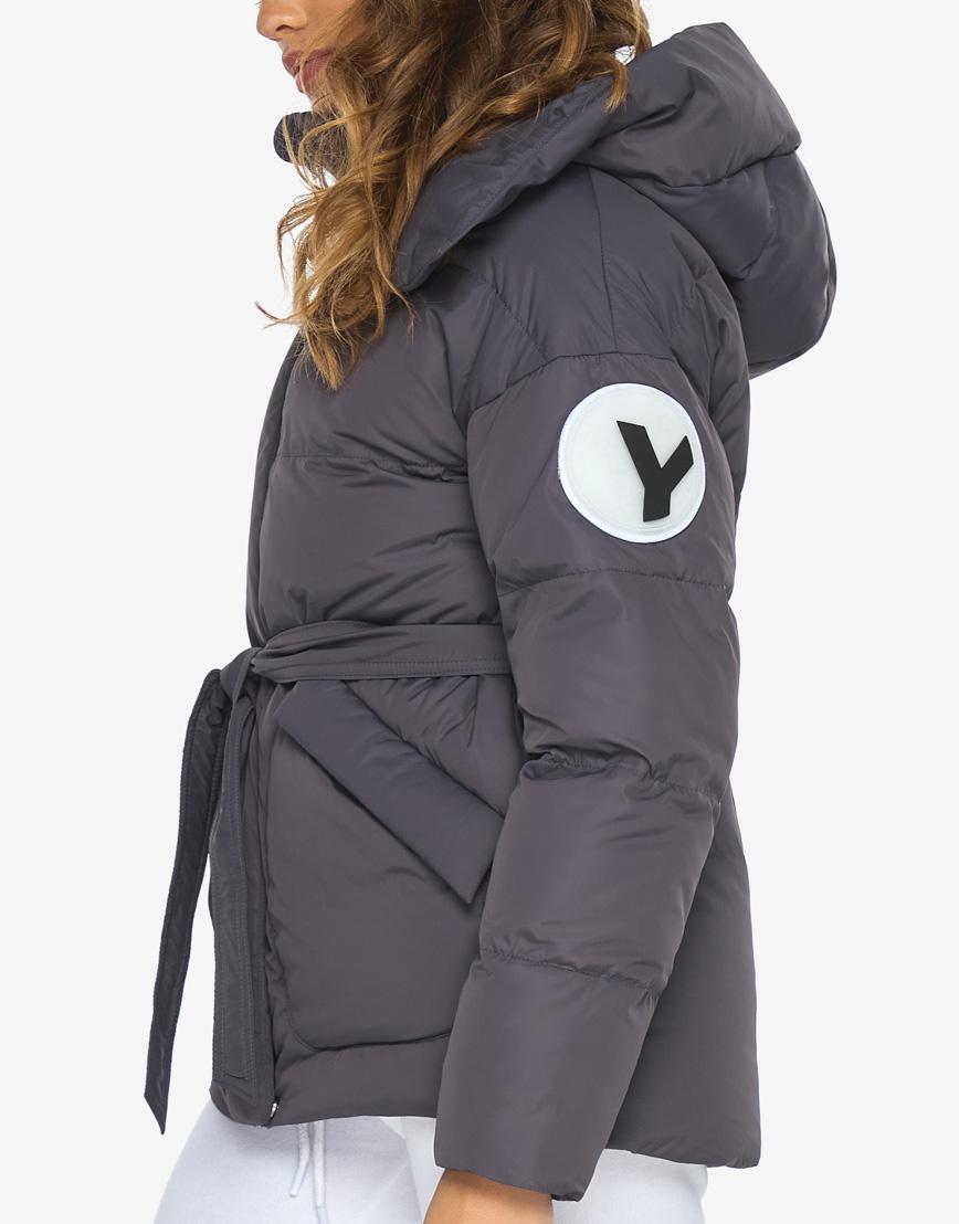 Пуховик куртка Youth молодежная модная графитовая модель 24350 фото 7