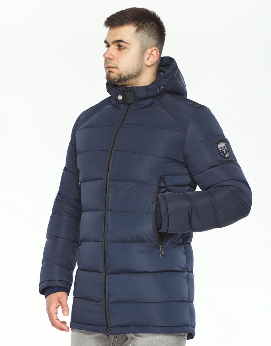 Трендовая куртка мужская синего цвета модель 36470 фото 2
