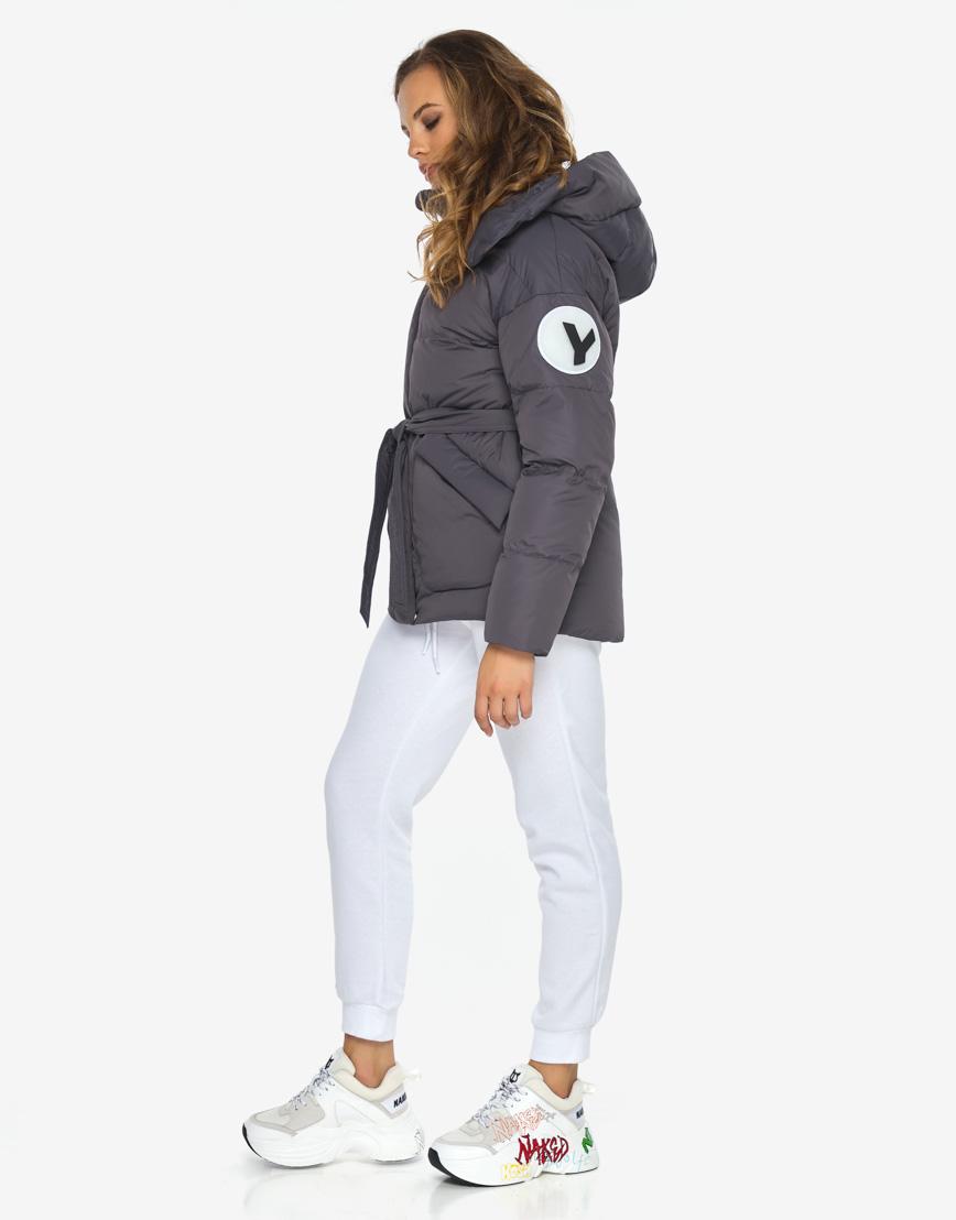 Пуховик куртка Youth молодежная модная графитовая модель 24350 фото 5